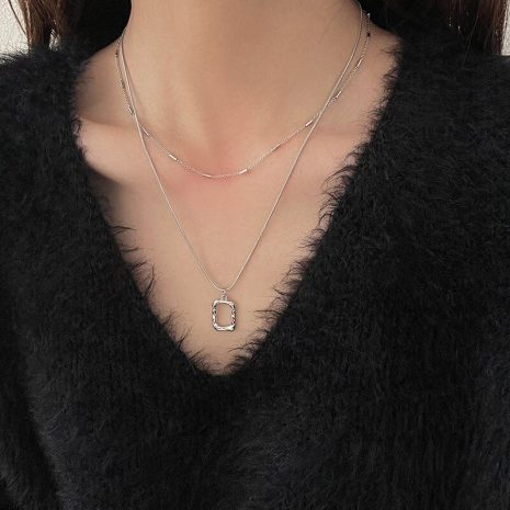 XIYANIKE-925-Sterling-Silver-Irregular-Hollow-Square-Pendant-Double-Necklace-Female-Fashion-Simple-Clavicle-Chain-Light-5.jpg